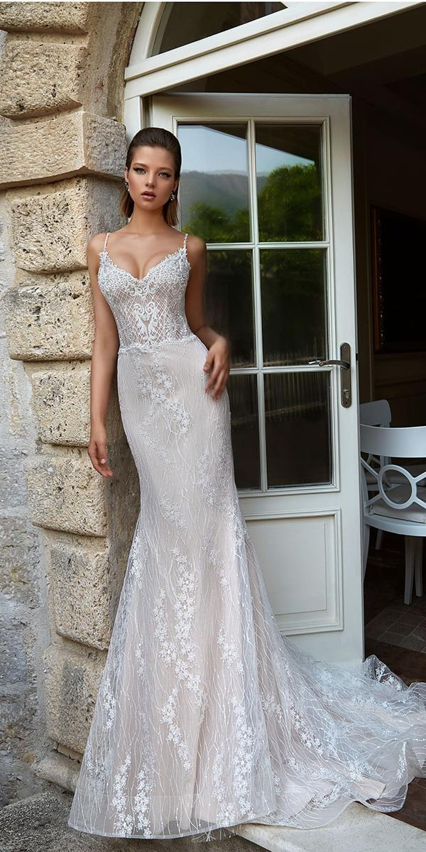 armonia wedding dresses for beach with spaghetti straps lace
