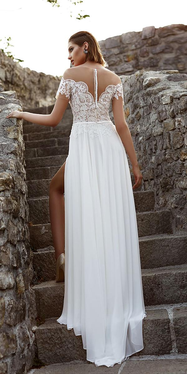 armonia wedding dresses sheath illusion back with buttons sleeves