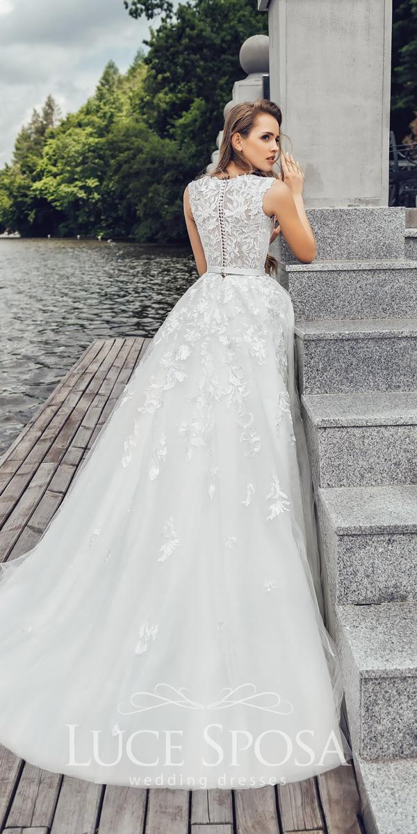 ball gown lace sleeveless luce sposa wedding dresses 2018