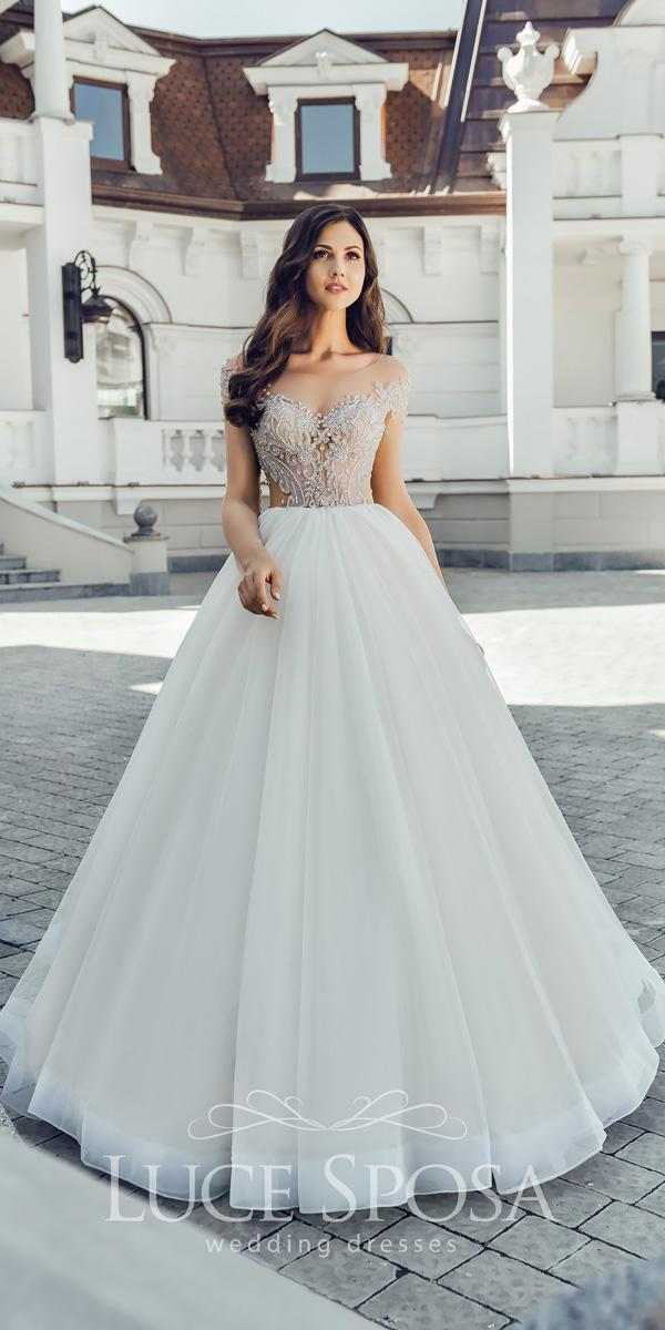 ball gown off the shoulder sweetheart neckline luce sposa wedding dresses 2018