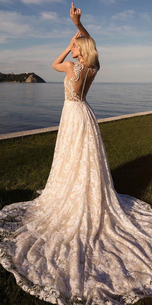 destination wedding dresses a line tattoo-effect back lace bezewedding