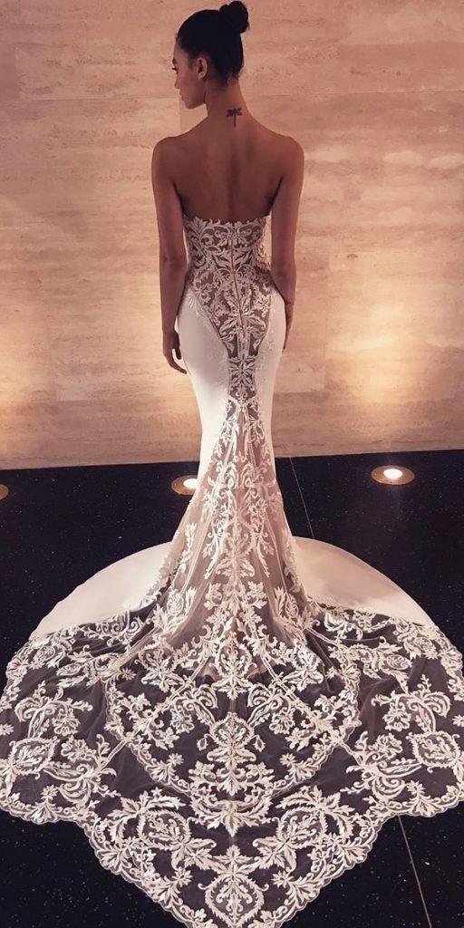 destination wedding dresses mermaid lace low back with train enzoani