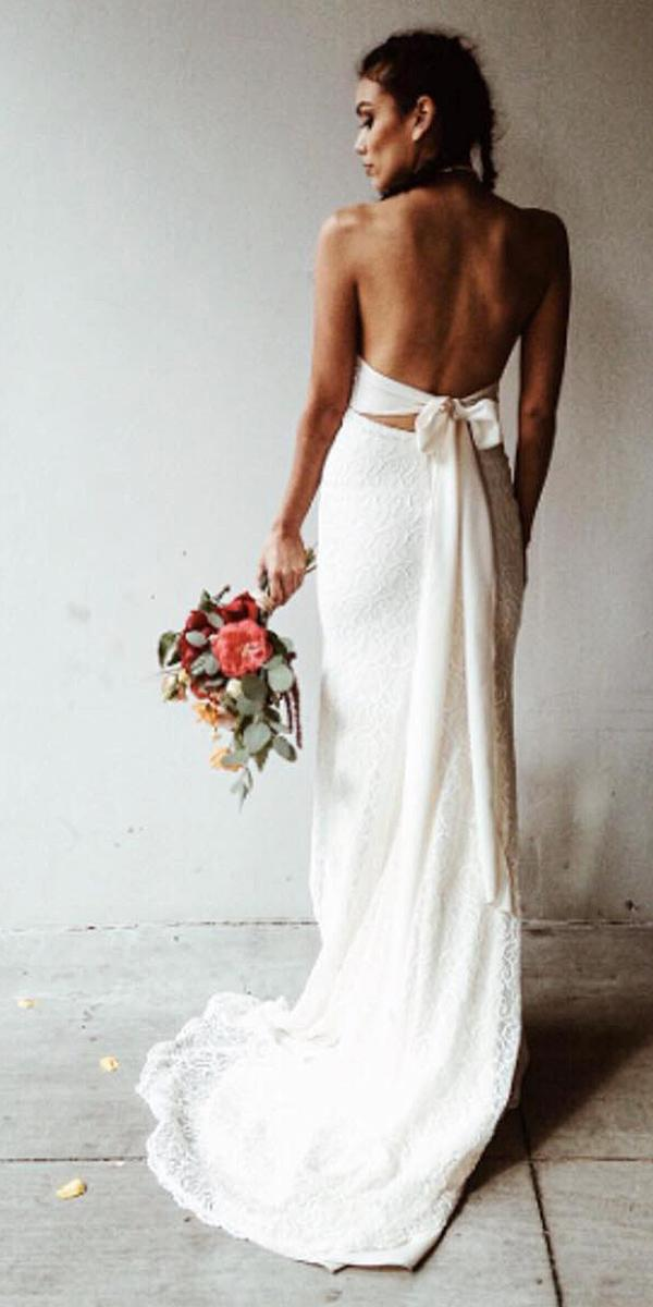 destination wedding dresses sheath simple with bow beach laudae bride