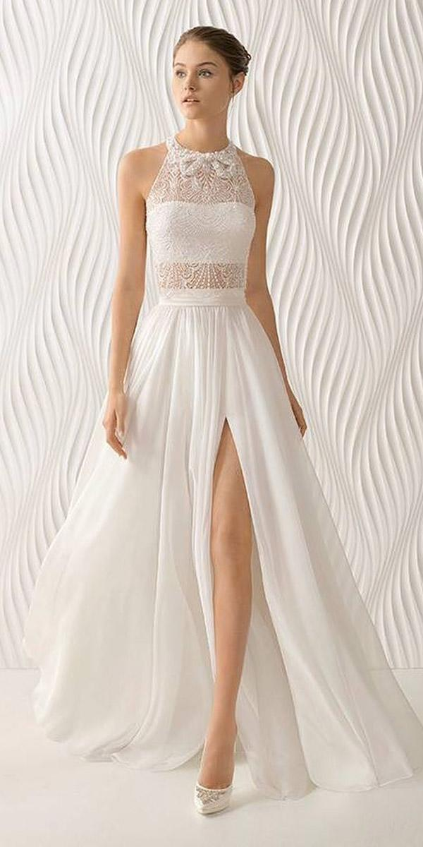 beach wedding dresses a line jewel neckline beaded top tulle skirt rosa clara