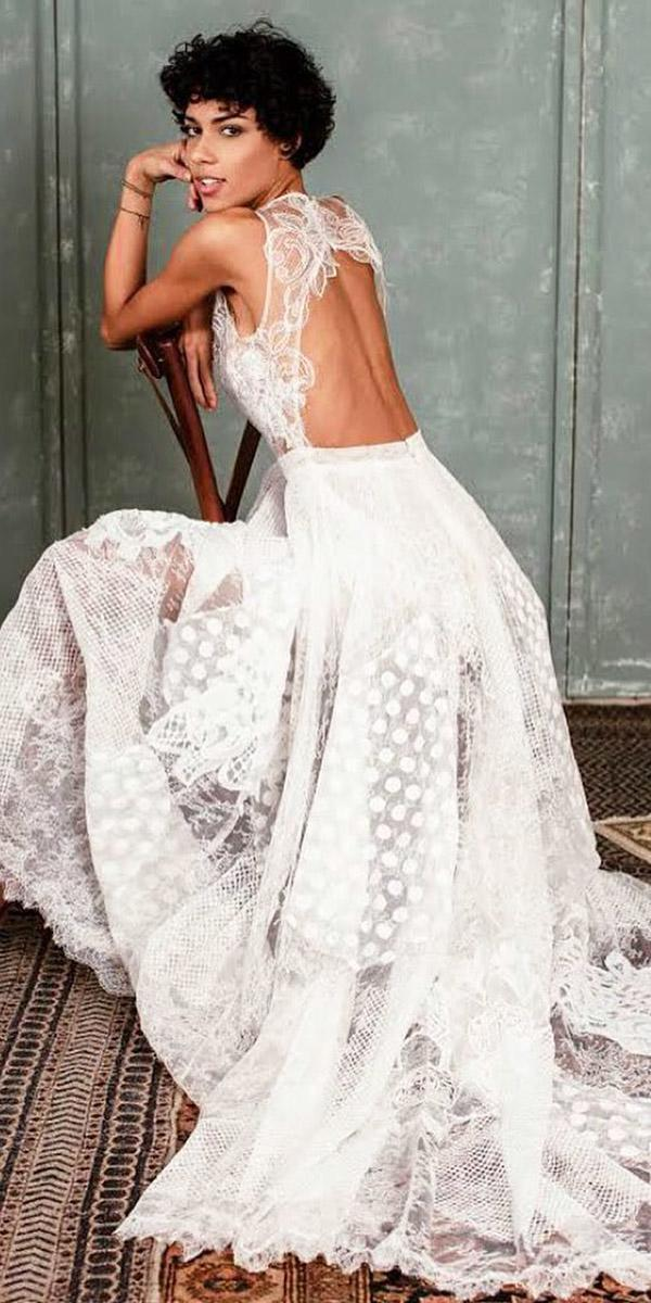 fantasy wedding dresses a line open back embellishment sleeveless boho yolan cris