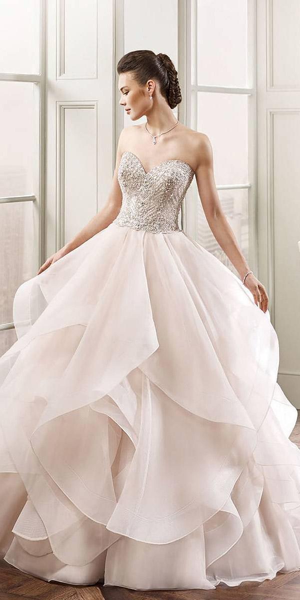 blush colored wedding dresses a line sweetheart beaded tulle skirt eddy k