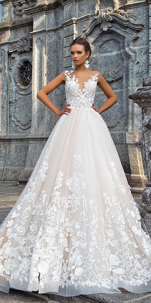 fantasy wedding dresses a line sweetheart lace tulle skirt milla nova
