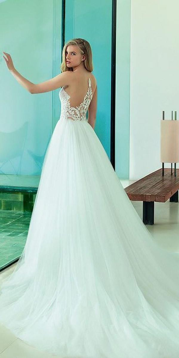 fantasy wedding dresses a line tatto effect back tulle skirt rosa clara