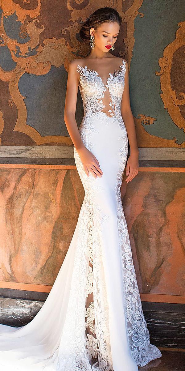 fantasy wedding dresses mermaid sweetheart lace embellishment sexy milla nova