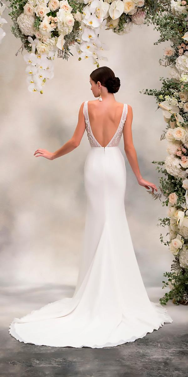 fit and flare back sleeveless anna georgina wedding dresses style maria