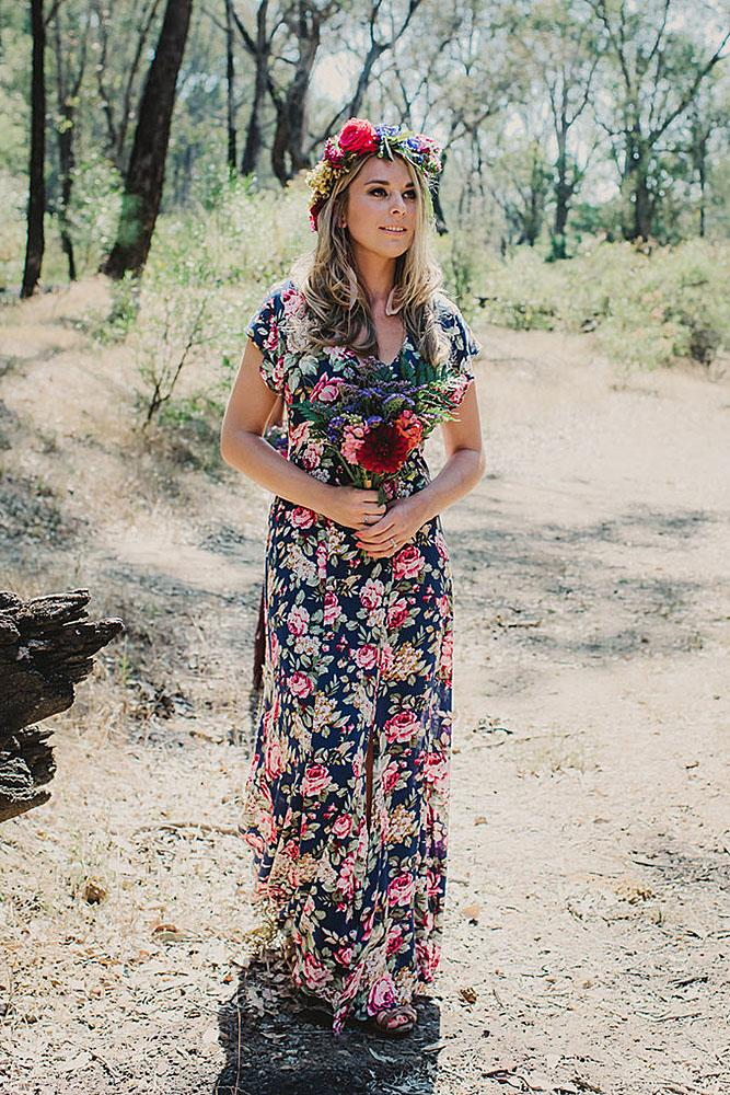 floral bridesmaid dresses boho with cap sleeves v neckline lucy spartalis photography