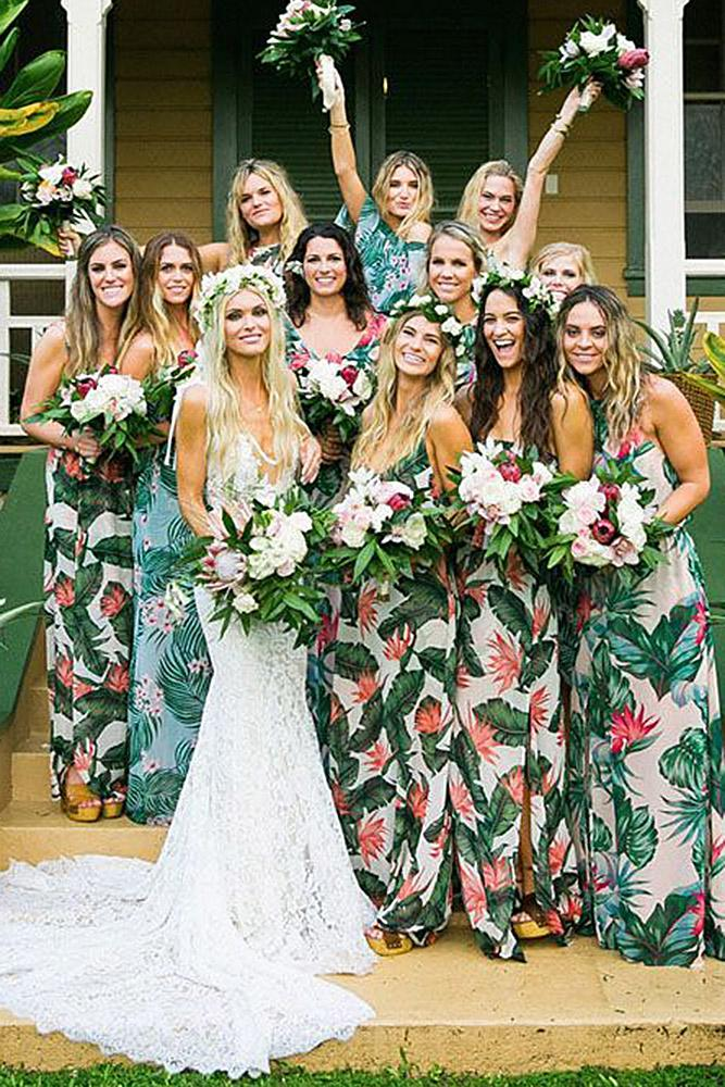 floral bridesmaid dresses sheath sleveless matty waugh