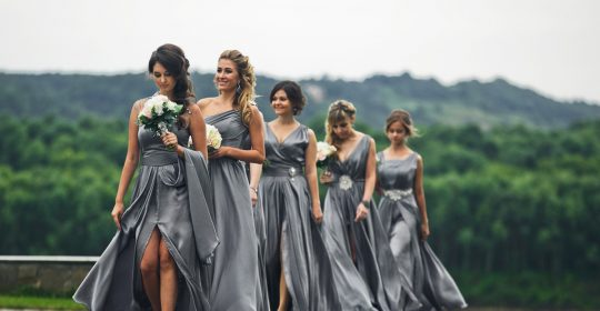 grey bridesmaid dresses featured