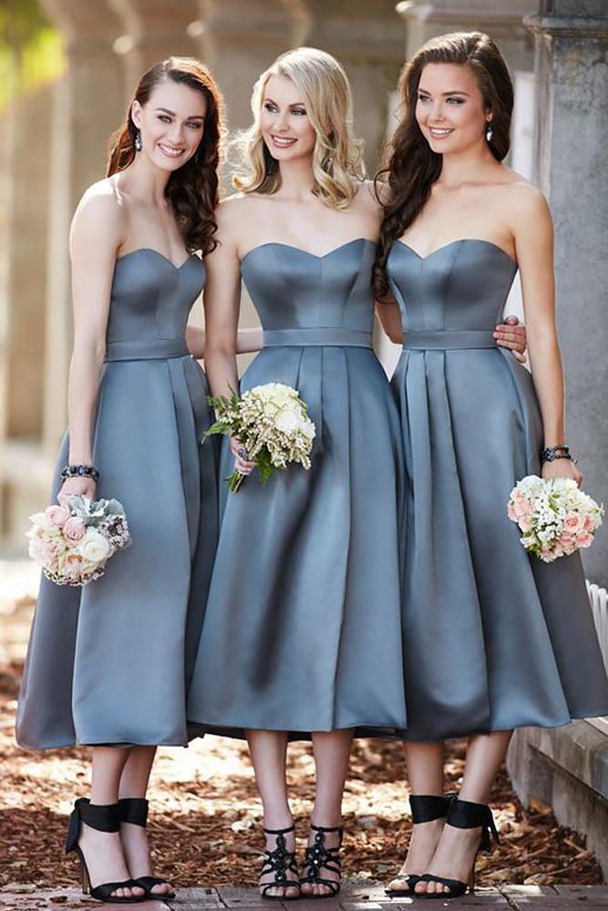 grey bridesmaid dresses sweetheart simple satin short sorella vita