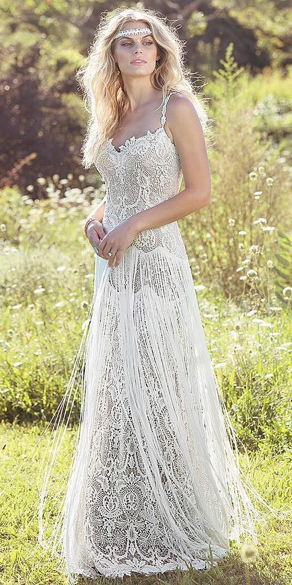 15 lace boho wedding dresses to inspire you wedding dresses guide lace boho wedding dresses sheath with spaghetti straps vintage beach emily soto junglespirit Gallery