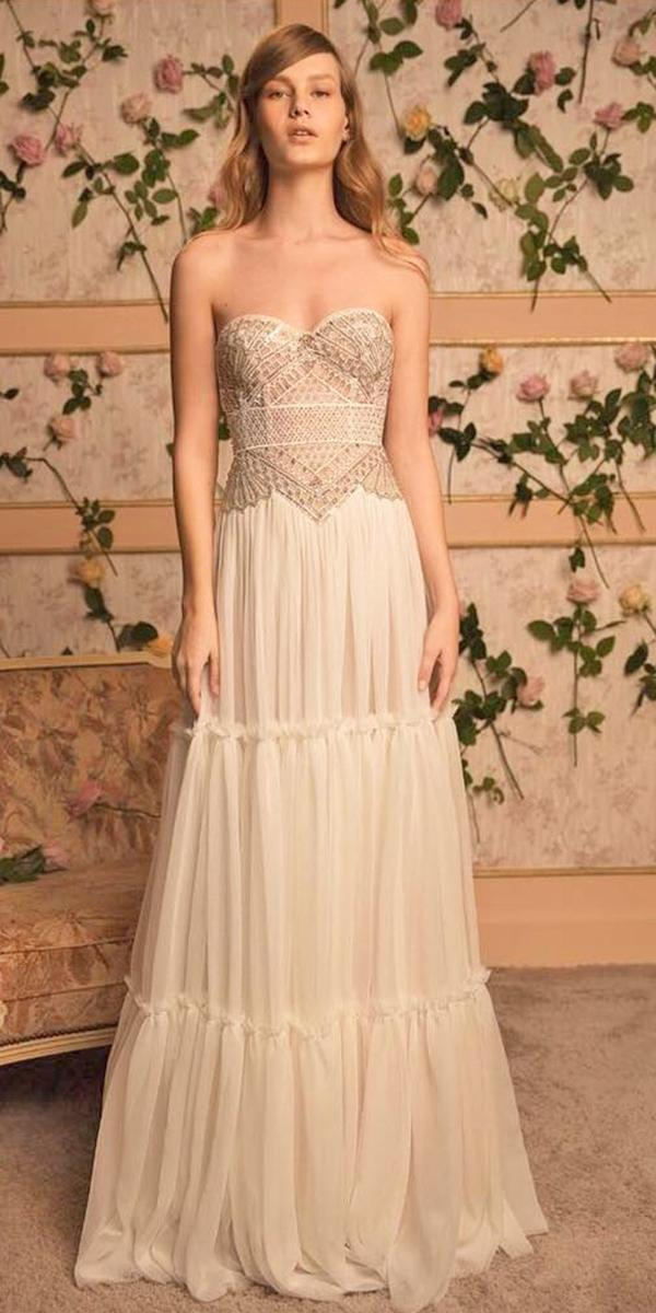 lace boho wedding dresses sweetheart strapless dana harel design