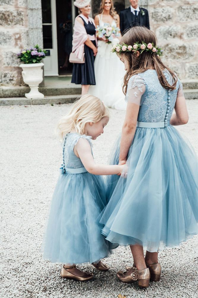 lace flower girl dresses blue with ribbon carley buick