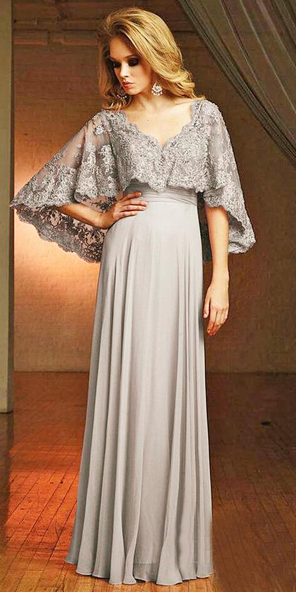 long mother of the bride and groom dresses sheath with lace cape mon cheri
