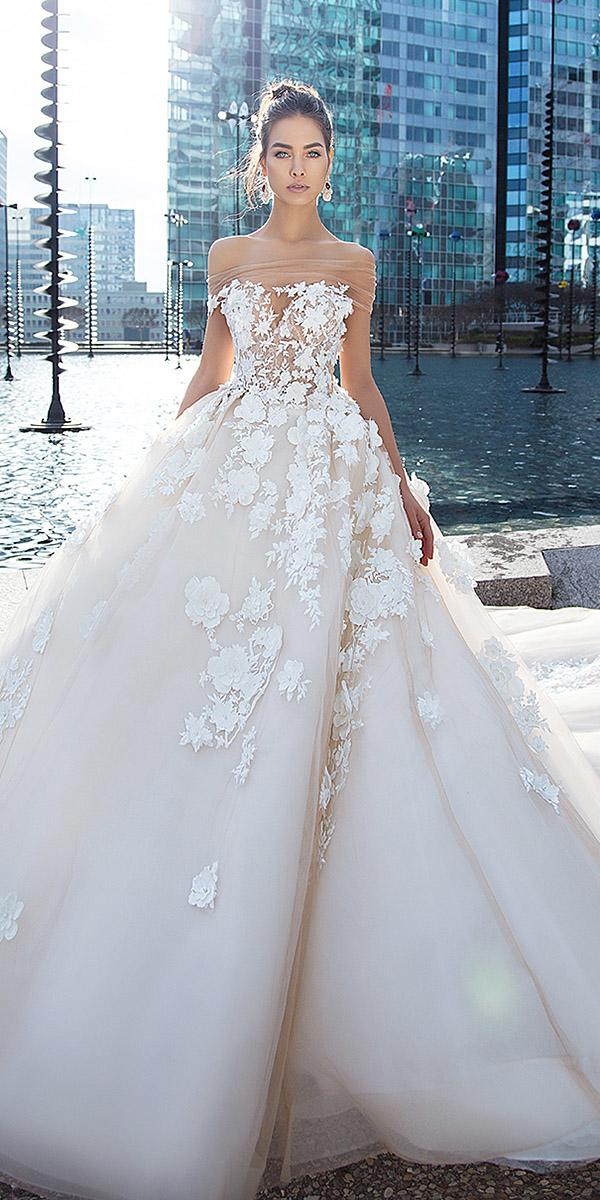 lorenzo rossi wedding dresses a line sweetheart off the shoulder 3d floral romantic