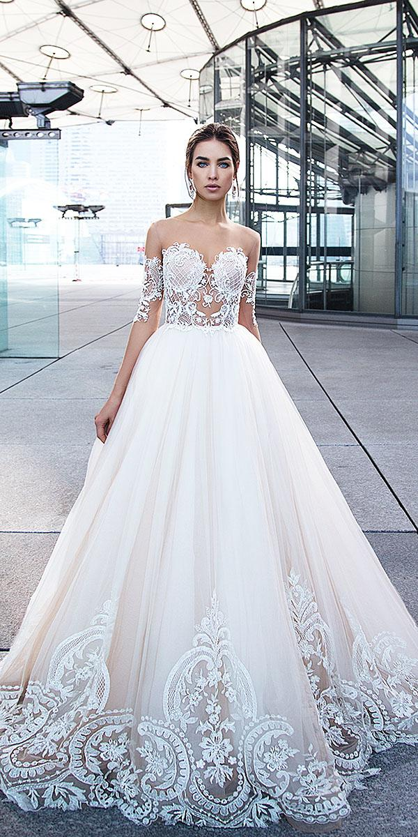 lorenzo rossi wedding dresses a line sweetheart off the shoulder lace embellishment 2017