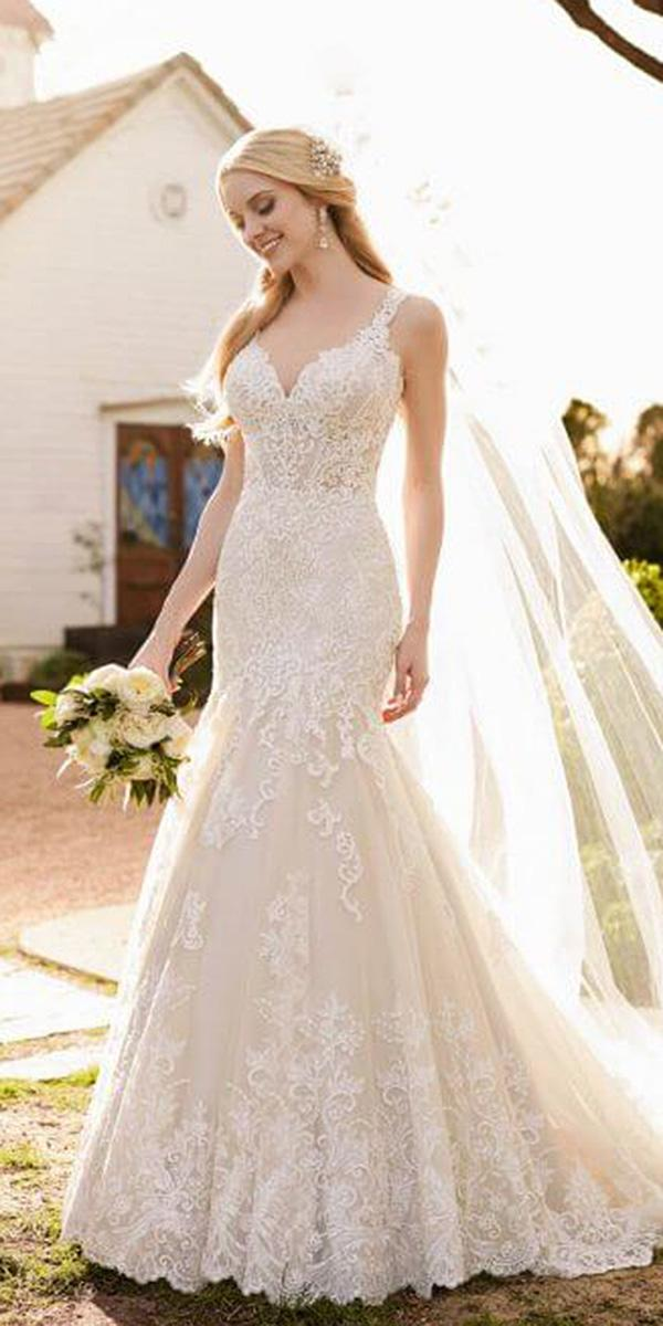 martina liana wedding dresses mermaid sweetheart full lace blush