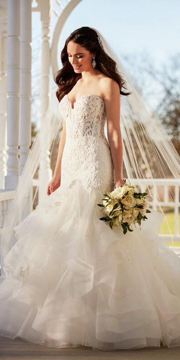 martina liana wedding dresses mermaid sweetheart lace tulle skirt