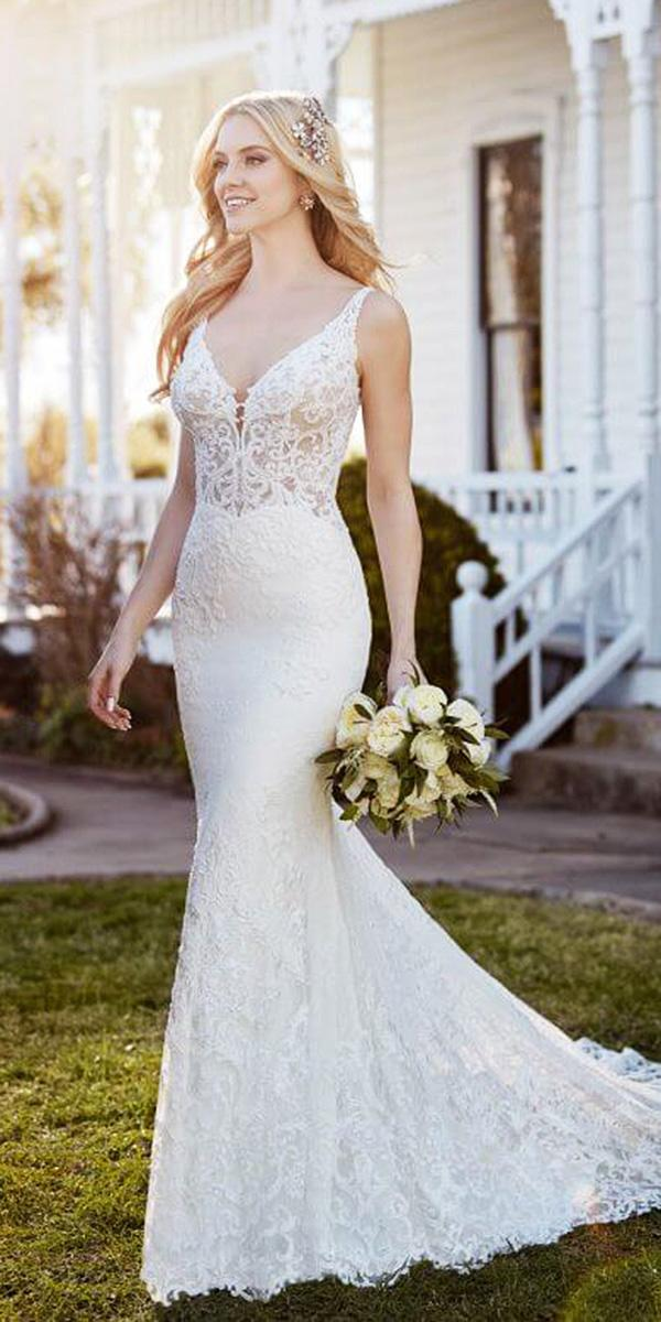 martina liana wedding dresses mermaid v neckline lace embellishment
