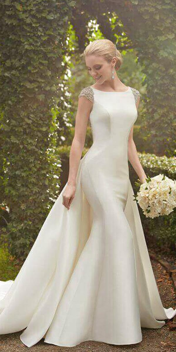 martina liana wedding dresses mermaid with cap sleeves overskirt simple