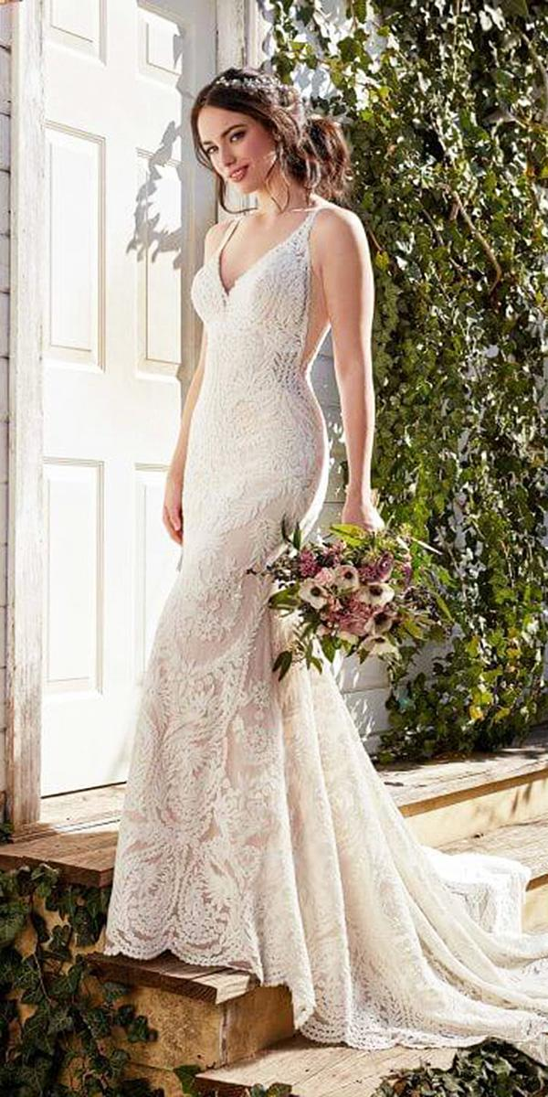 martina liana wedding dresses sheath spaghetti straps with train blush