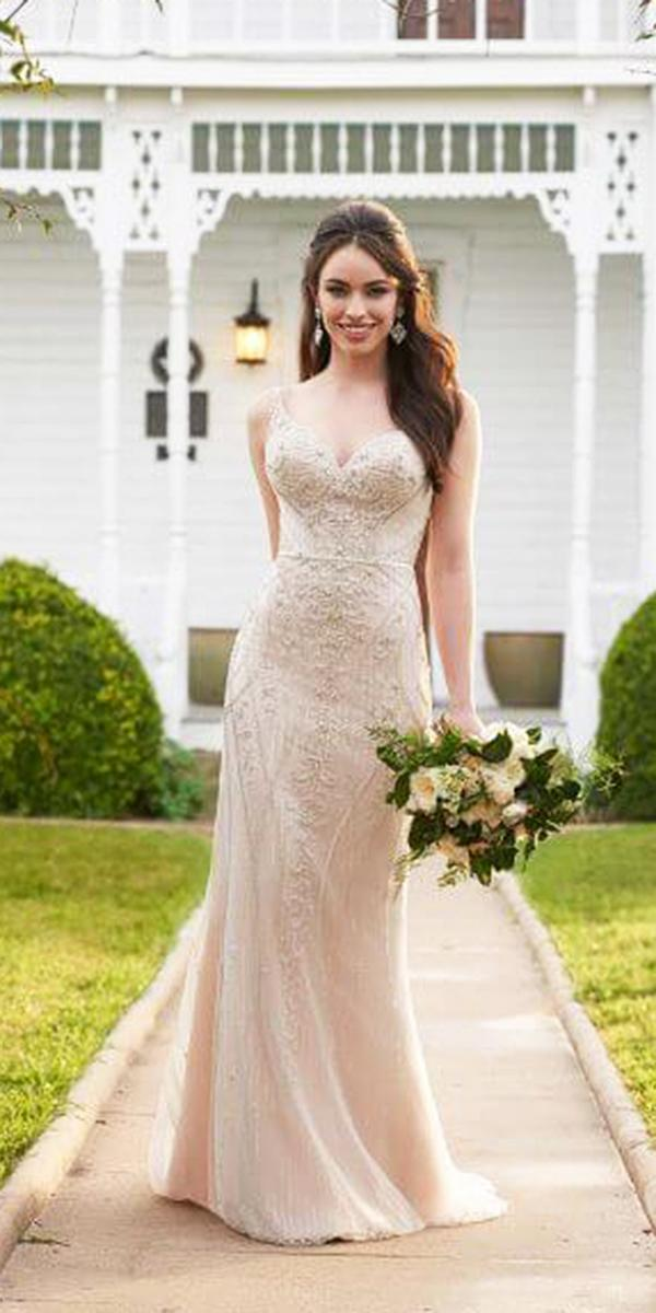 martina liana wedding dresses sheath sweetheart beaded blush