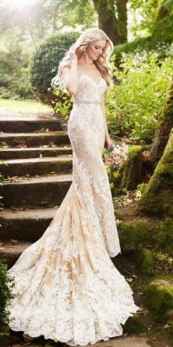 martina liana wedding dresses sheath sweetheart full lace blush