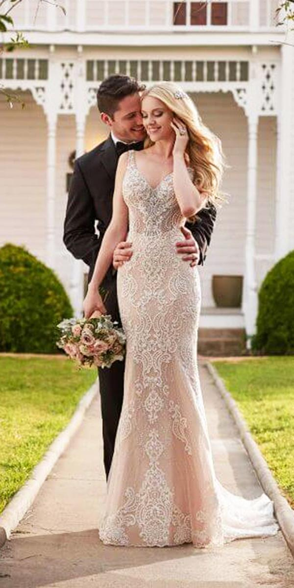 martina liana wedding dresses sheath sweetheart spaghetti straps lace blush