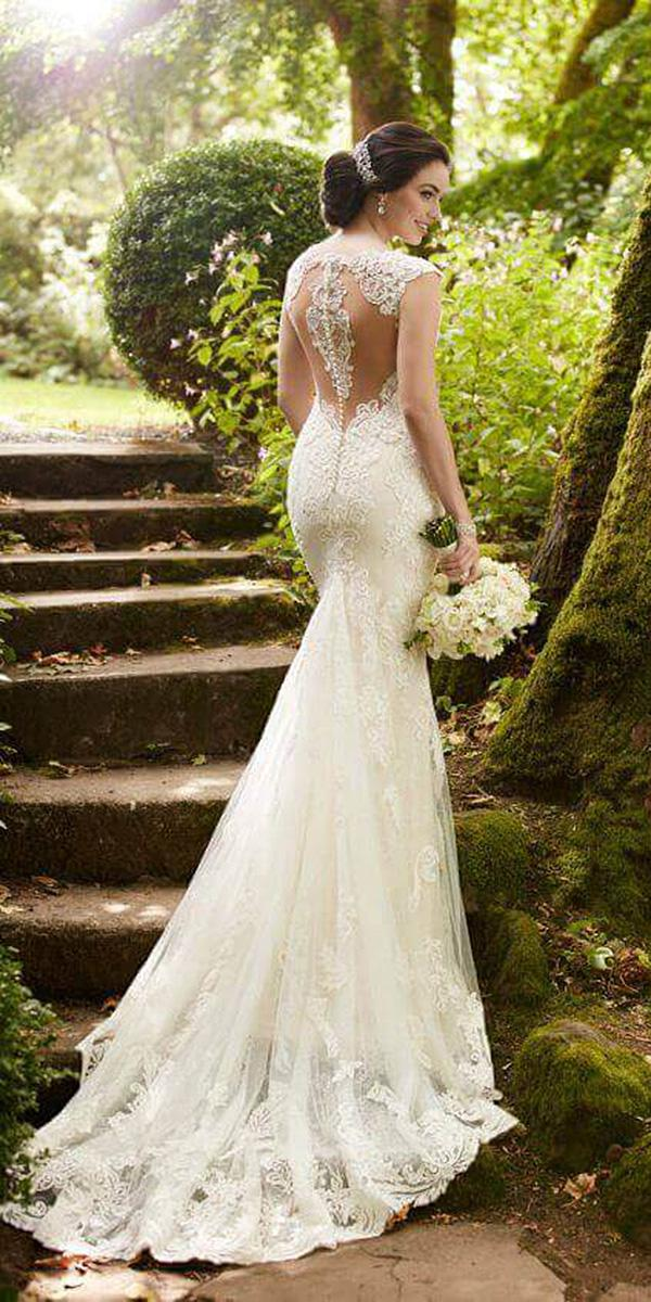 martina liana wedding dresses sheath with cap sleeves lace back