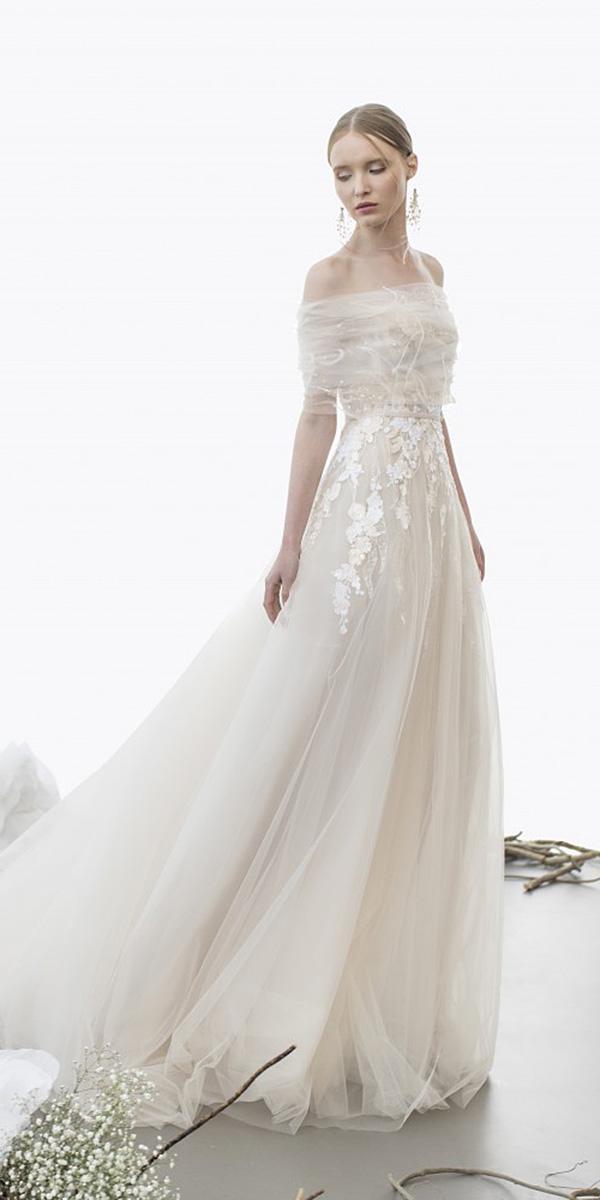 mira zwillinger wedding dresses a line floral appliques elegant 2018