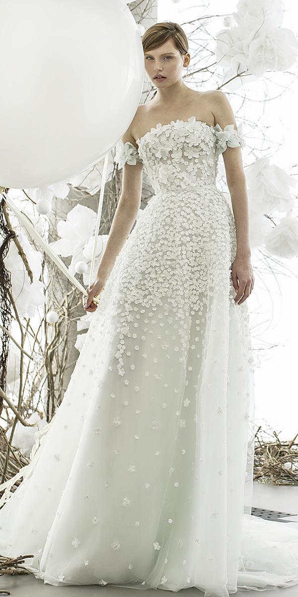 mira zwillinger wedding dresses a line off the shoulder floral appliques 2018