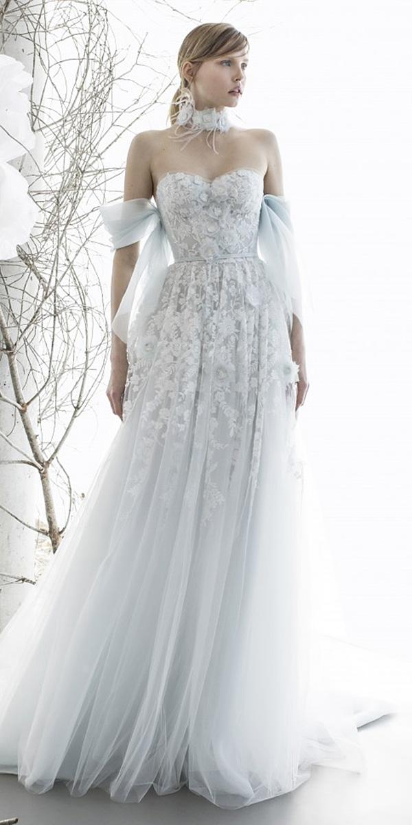 mira zwillinger wedding dresses a line off the shoulder sweetheart floral appliques