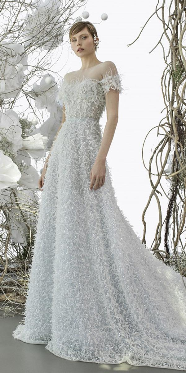 mira zwillinger wedding dresses a line off the shoulder sweetheart