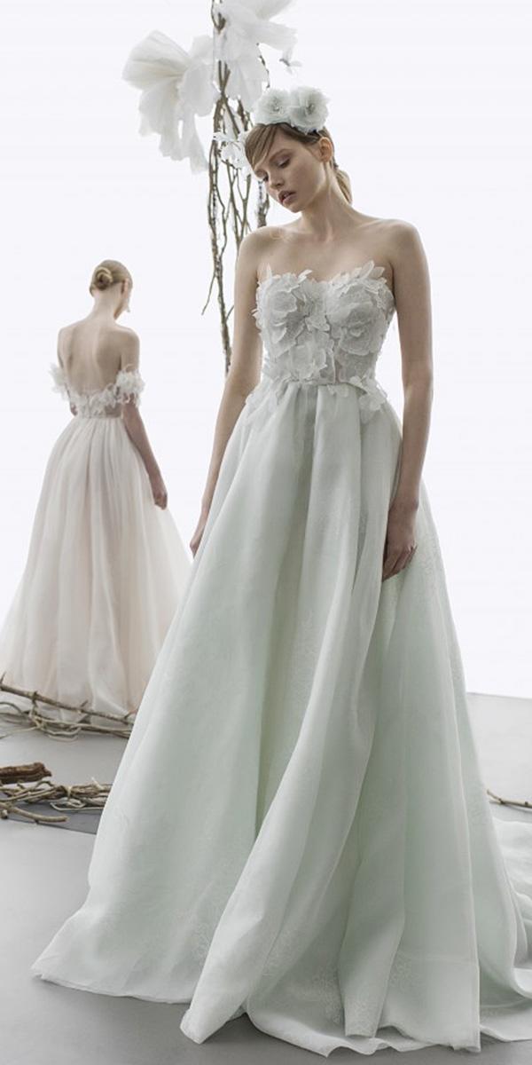 mira zwillinger wedding dresses a line sweetheart floral top