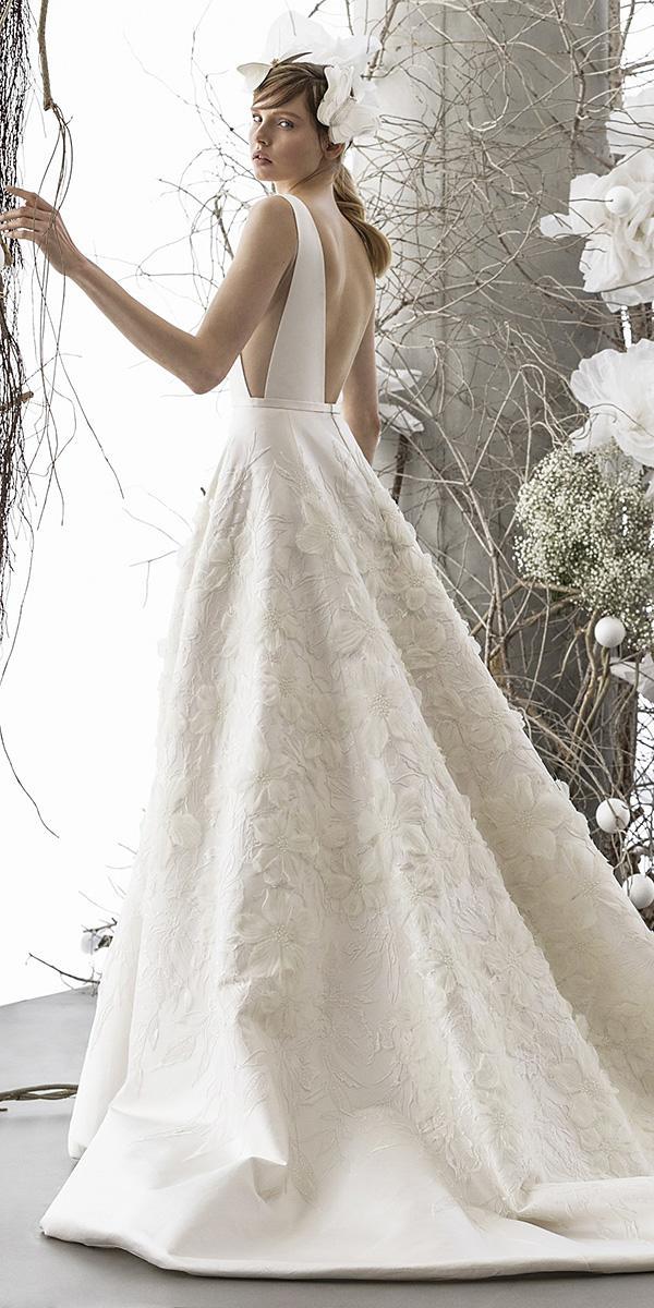 mira zwillinger wedding dresses a line v back floral appliques elegant