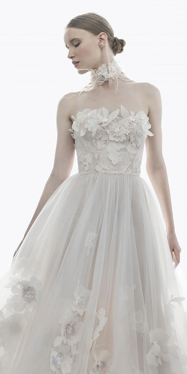 mira zwillinger wedding dresses sweetheart floral appliques tulle skirt 2018