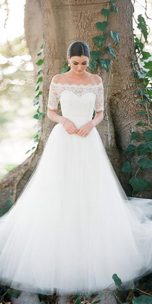 moden wedding dresses with sleeves sweetheat lace minimalist aria brides