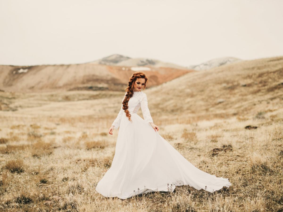 modest wedding dresses with sleeves featured