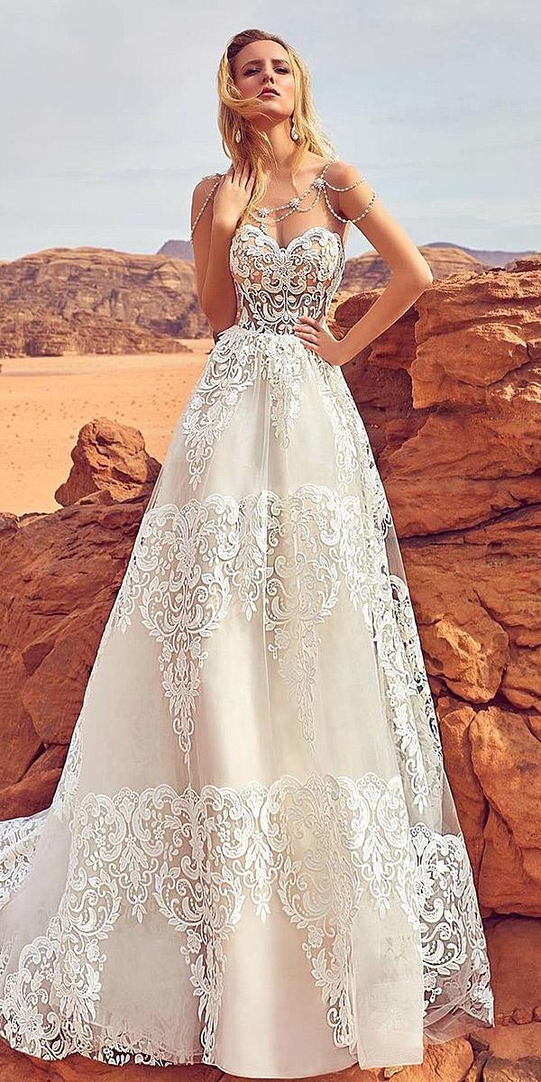 oksana mukha 2018 wedding dresses a line sweetheart full lace