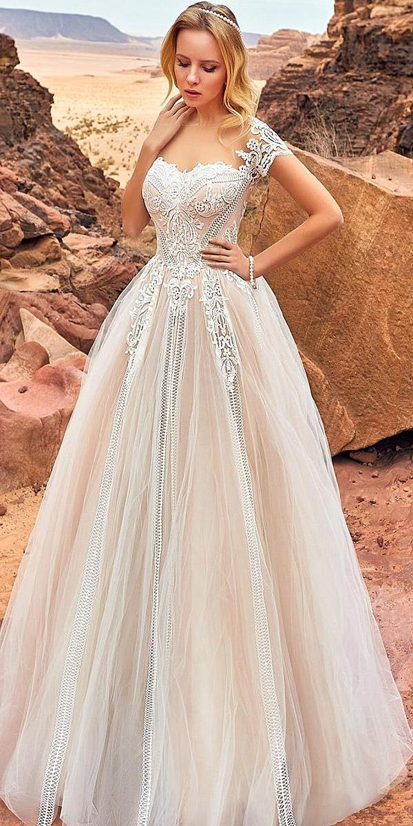 oksana mukha 2018 wedding dresses a line sweetheart off the shoulder lace embellishment tulle skirt