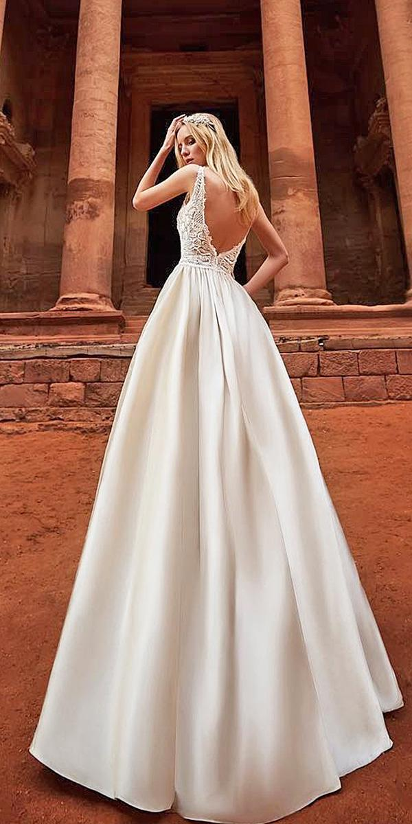 oksana mukha 2018 wedding dresses a line v back sleeveless lace top