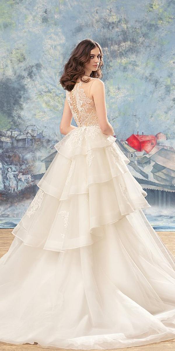 papilio wedding dresses a line illusion back lace 2017
