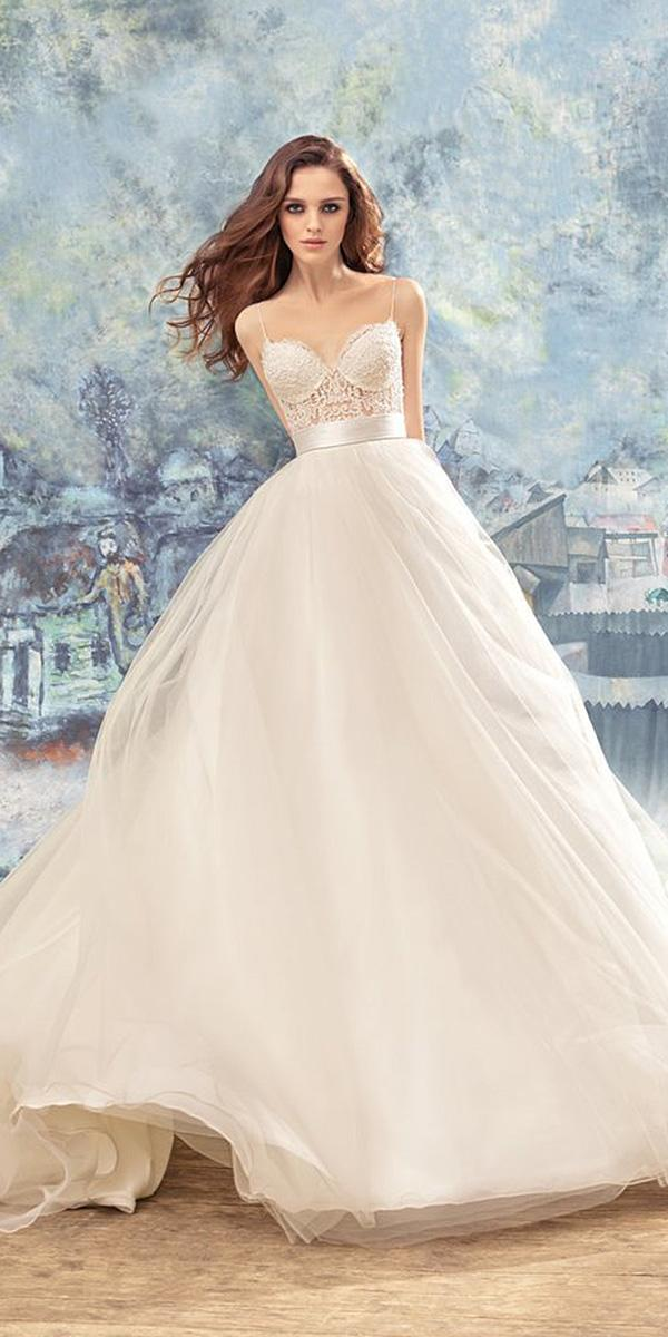 papilio wedding dresses a line sweetheart with spaghetti straps lace top