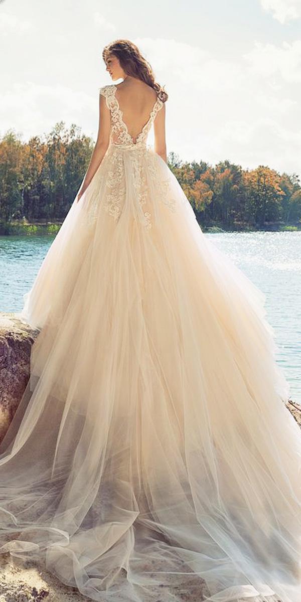 papilio wedding dresses a line v back lace floral embellishment
