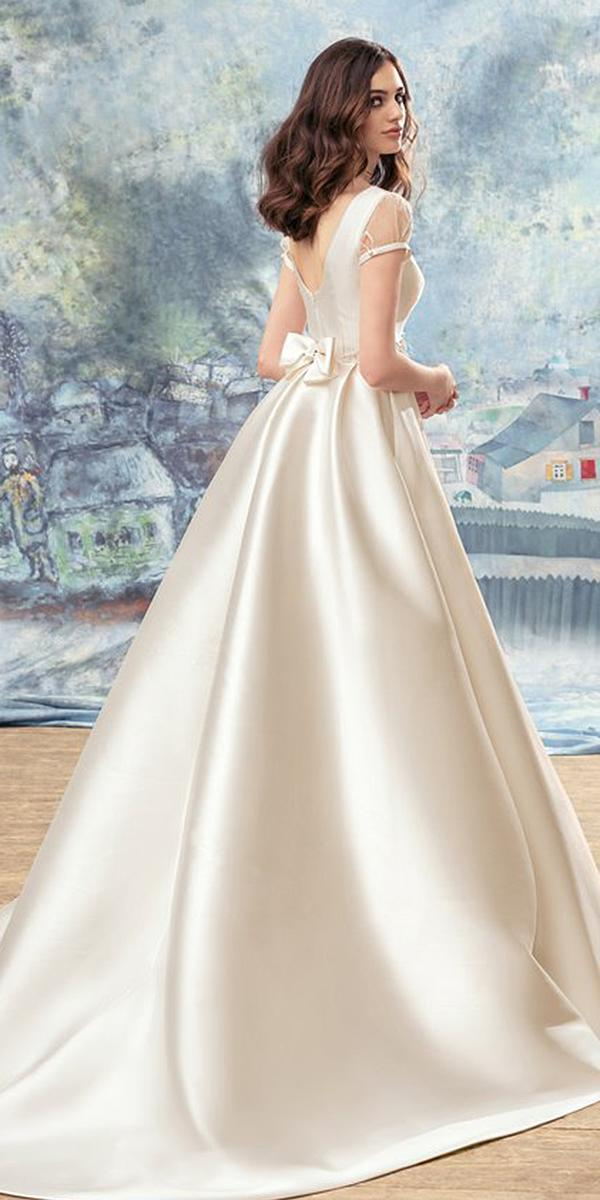 papilio wedding dresses a line v back with bow simple