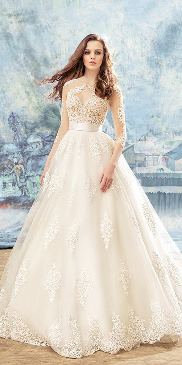 papilio wedding dresses a line with sleeves lace 2017